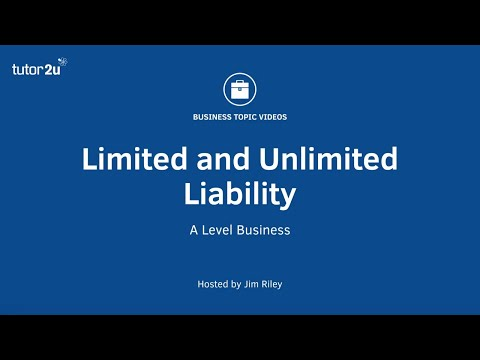 Limited and Unlimited Liability