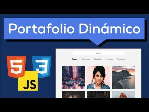 Tutorial como hacer un portafolio dinámico con HTML CSS y Javascript thumbnail