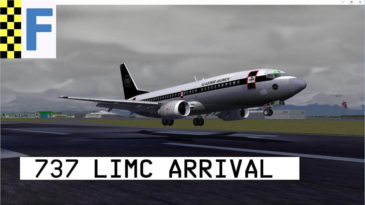 [FlightGear] 737-300 VladFlyer Livery Arrival into LIMC (HD)