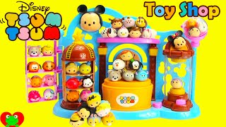 Disney Tsum Tsum Toy Shop Playset and Squishy 4 Packs