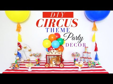 DIY CIRCUS PARTY DECORATIONS | DOLLAR TREE DIY CENTERPIECE