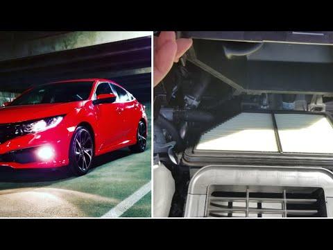 DIY: 2016-2019 Honda Civic (2.0L) Engine Air Filter Check / Replace.