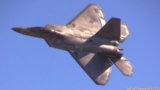 2014 F-22 RAPTOR DEMO @ PLANES OF FAME AIR SHOW