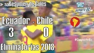 Ecuador gana 3-0 a Chile - Eliminatorias Rusia 2018