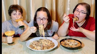 Spaghetti With Meatballs In Rosee Sauce And Mango Apple Smoothie | Gay Family Mukbang (먹방)