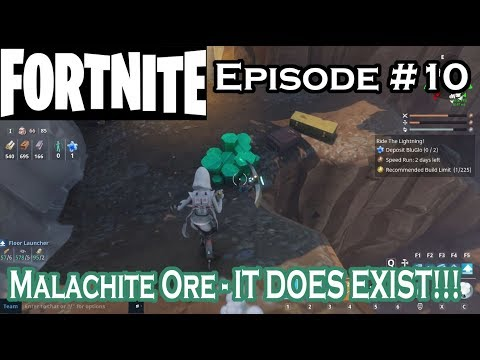 Fortnite - Malachite Ore - It Does Exist!!! - S01 E10 - Let's Play Fortnite