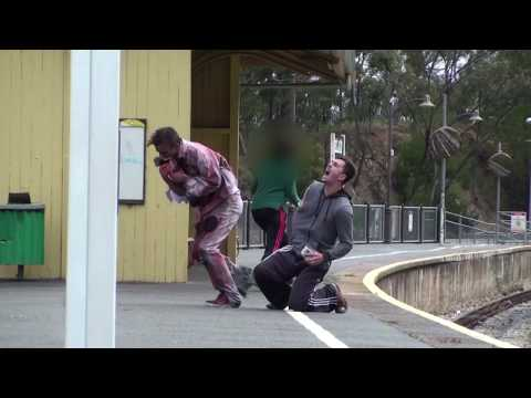 Flesh Eating Zombie Attack Prank