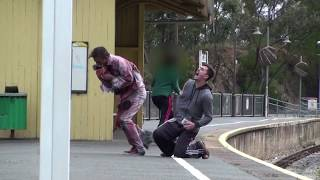 One of TheRoyalStampede's most viewed videos: Flesh Eating Zombie Attack Prank