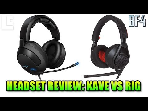 Roccat Kave And Plantronics RIG Headset Unboxing & Review (Battlefield 4 Gameplay/Commentary)