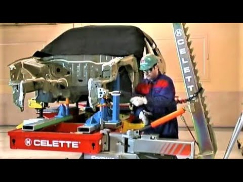 Celette car body frame machine online training, universal jig,  measuring system, collision repair.