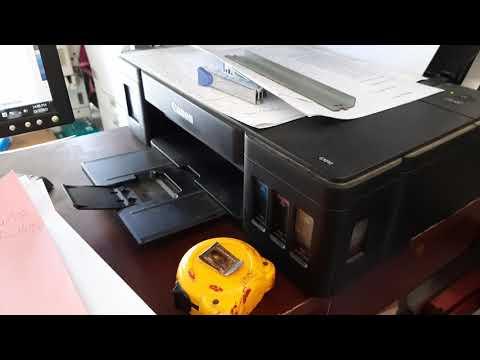 cách in 2 mặt card visit chính xác máy in Canon G1010, máy in phun màu