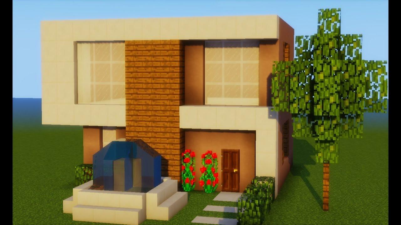 Minecraft como fazer uma casa moderna pequena 231 youtube for Casa moderna y pequena en minecraft