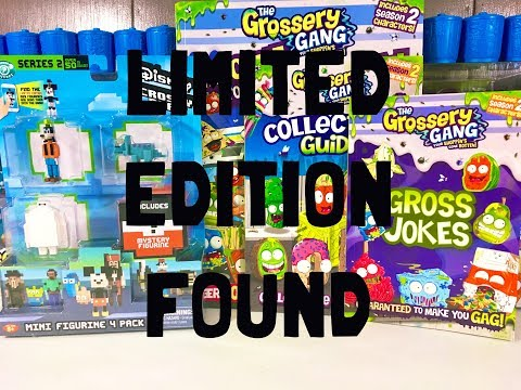 LIMITED EDITION FOUND! Grossery Gang books and Disney Crossy Road Mineez Series 2 opening
