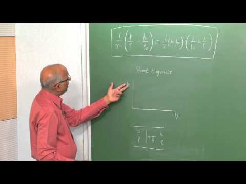 Mod-01 Lec-04 Shock Hugoniot and Rayleigh Line