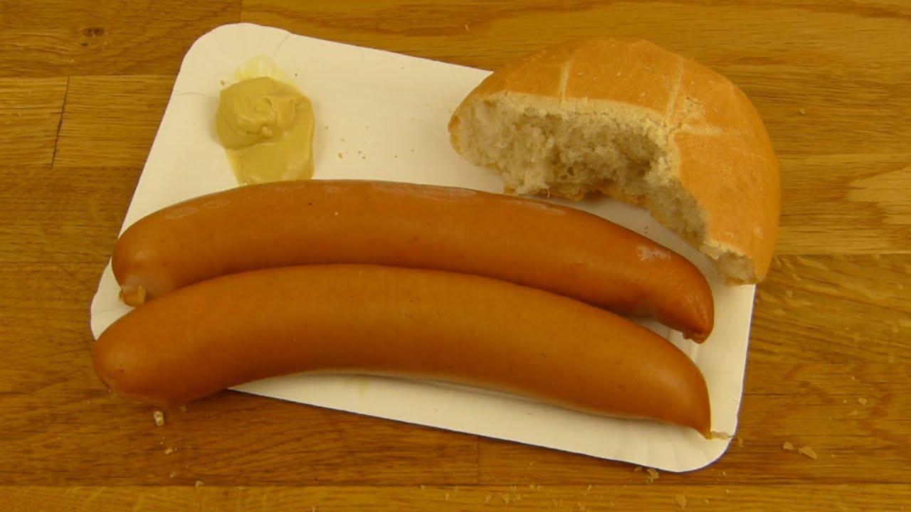 German Bockwurst Mit Senf (Mustard) - YouTube