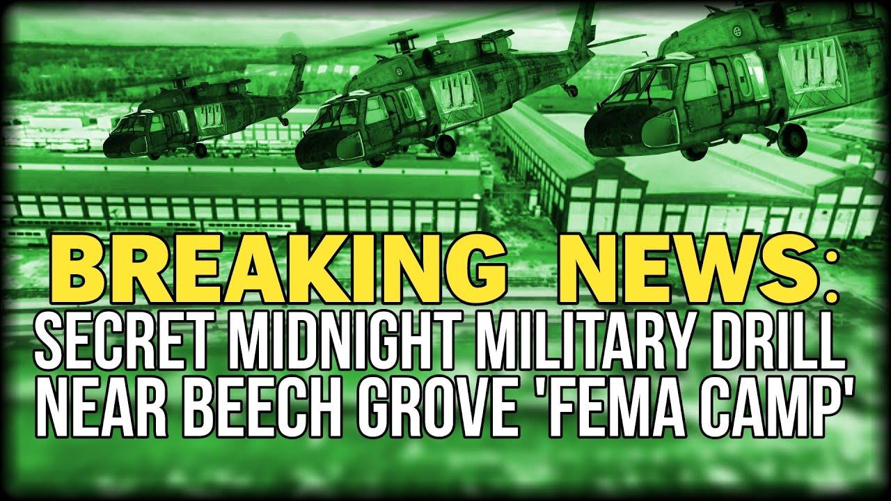 breaking secret midnight military drill near beech grove 39 fema camp 39 youtube. Black Bedroom Furniture Sets. Home Design Ideas
