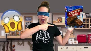 HOW TO BAKE BROWNIES BLINDFOLDED!!