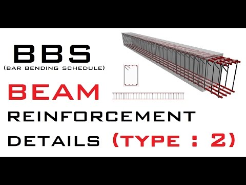 BBS (Bar Bending Schedule) | Beam Reinforcement | Type 2