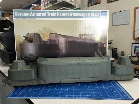 Complete build of the Trumpeter 1/35 German Armored train  Panzertriebwagen Nr16