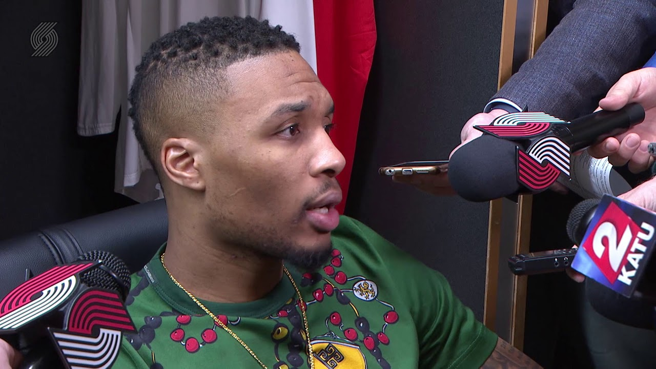 Damian Lillard Our Aggressiveness Allowed Us To Overwhelm Them