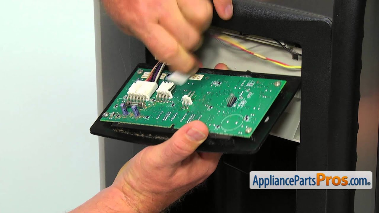 refrigerator dispenser control board assembly part wr55x23210 how to replace [ 1280 x 720 Pixel ]