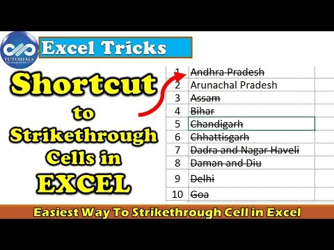 Easiest Way To Strikethrough Cell In Excel || How To Do A Strikethrough In Excel || Dptutorials