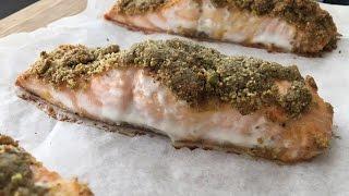 Pistachio Crusted Baked Salmon Recipe