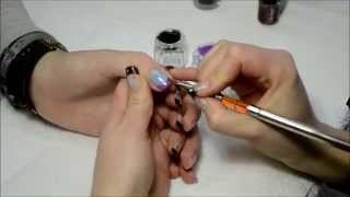 How to do Nail Art with Gel and Acrylic Paint - Mouchtache