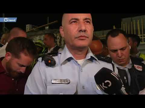 تواصل نقل المصابين الإسرائيليين بانهيارالكنيس اليهودي واستنفار  في مستوطنة -جفعات زئيف- غرب القدس
