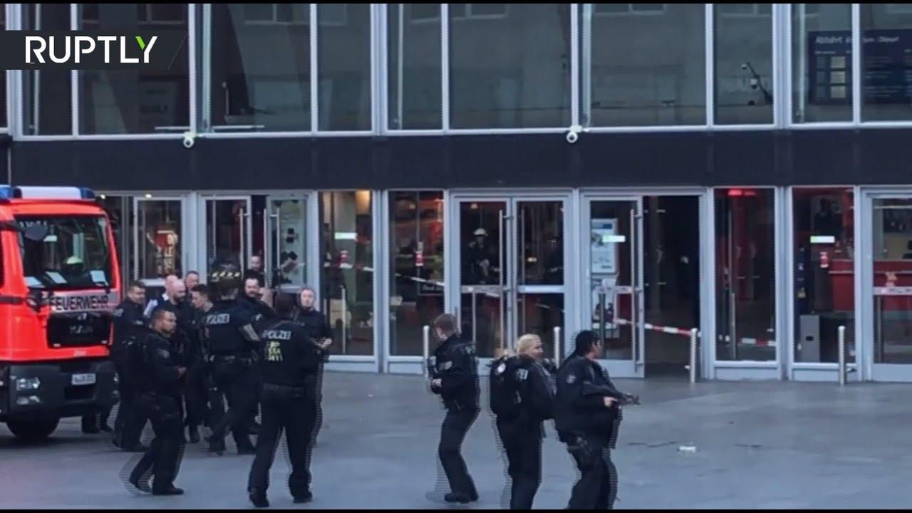 Паника после захвата заложника на центральном вокзале в Кёльне