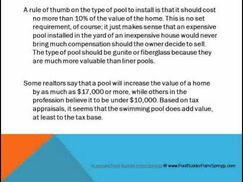 In Ground Pool Installation - Increase the Value of Your Property