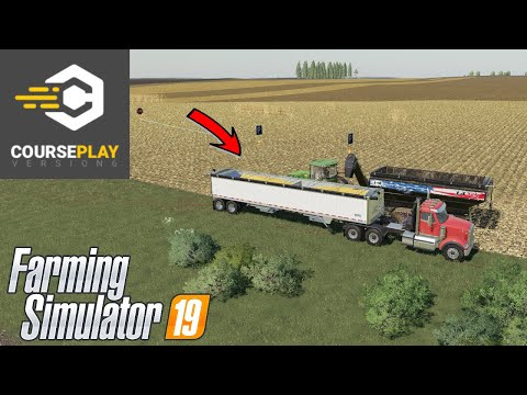 How To Load / Unload Multiple Hoppers Or Trailers With Courseplay In Farming Simulator 19