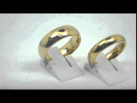51d85da3cff Aliança de Tungstenio 6mm e 8mm banhada a ouro 18k - YouTube