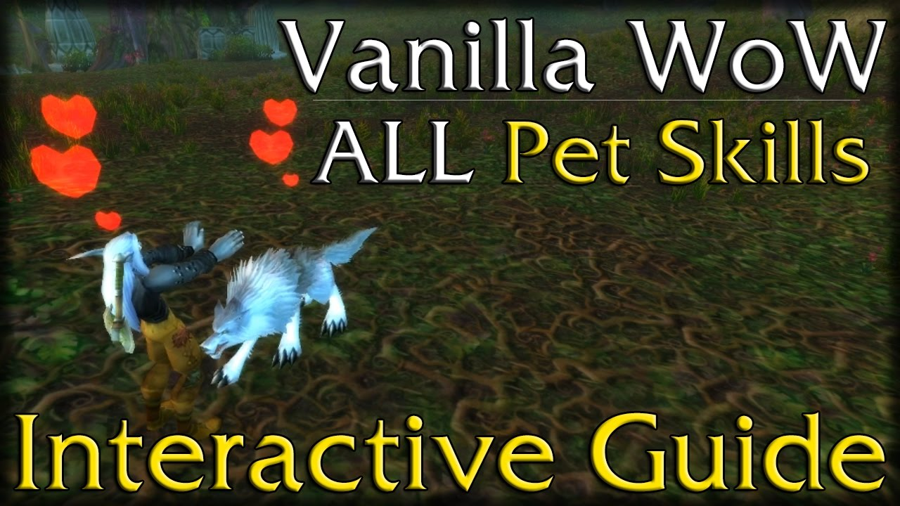 Vanilla Wow All Hunter Pet Skills Interactive Guide Youtube