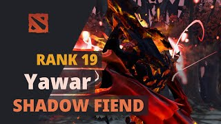 Yawar (Rank 19) plays Shadow Fiend Dota 2 Full Game