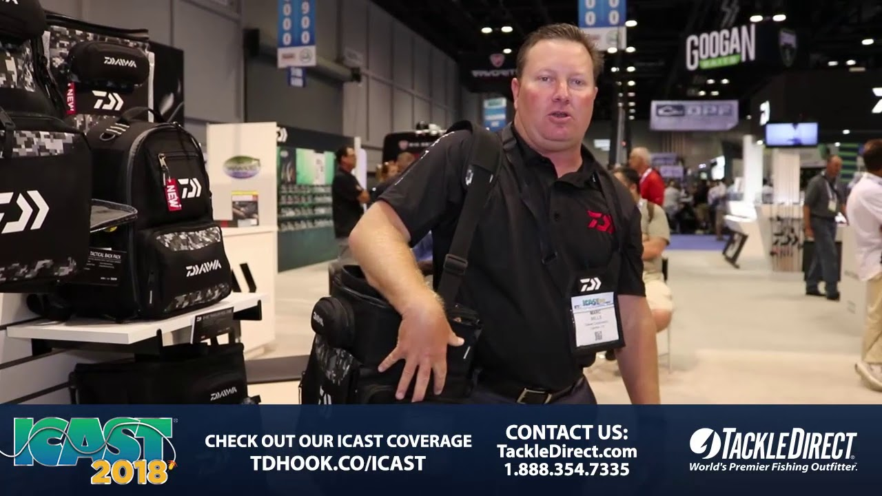ac9f3e3f417 Daiwa D Vec Front Load Tackle Pack at ICAST 2018. TackleDirect