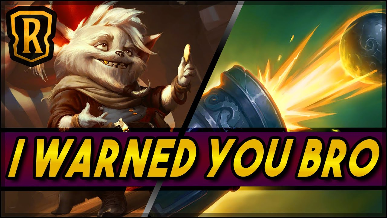 I Warned You Bro (Ezreal TF Nab) | Season of Fortune | LoR Game | Legends of Runeterra
