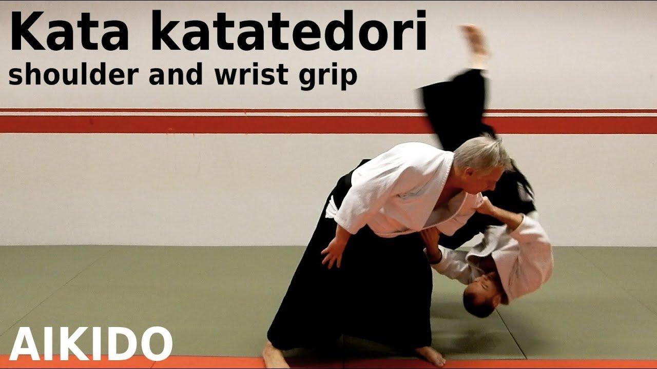 Aikido techniques on KATA KATATEDORI, double grip, by Stefan Stenudd, 7 dan Aikikai shihan