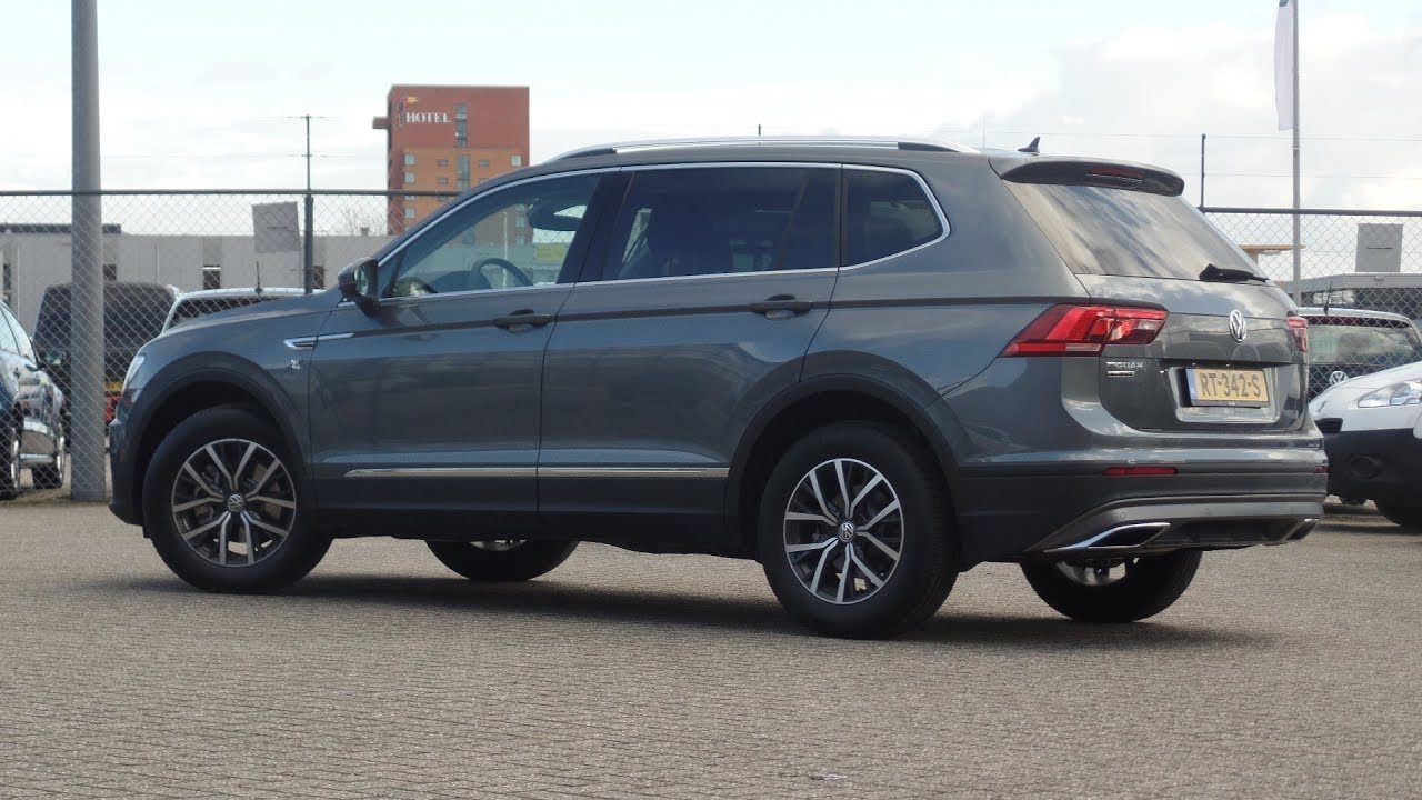 "Volkswagen NEW Tiguan Allspace 2018 Indium Grey Metallic Comfortline 17 inch ""Tulsa"" walk around ..."