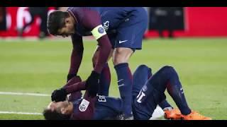 Neymar sort sur civière lors de PSG vs OM [25/02/2018]