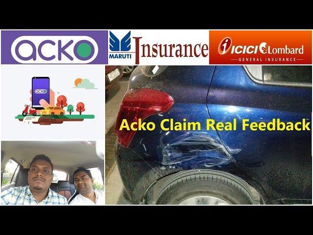 Acko Insurance Claim Review On Call Settlement Acko Insurance Claim Youtube