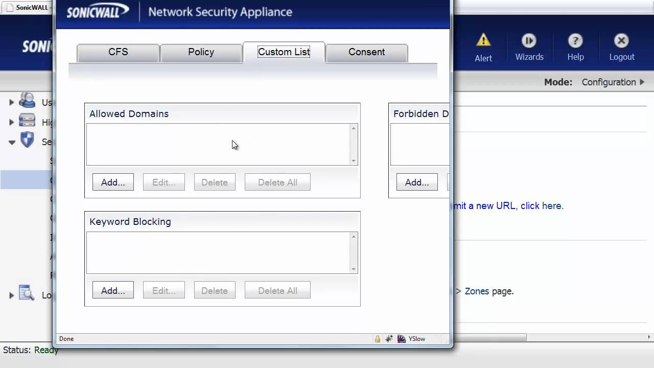 Block Website Access with SonicWALL Firewall