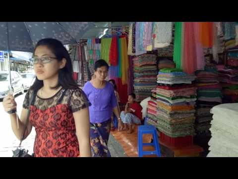 Myanmar travel video guide - Review traditional market in Yangon 2017