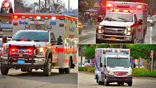 Ambulances Responding Compilation - Best of 2017 - Lights and Sirens