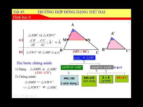 Toán học lớp 8 – Bài 6 – Trường hợp đồng dạng thứ hai của tam giác, trò chơi bằng powerpoint.