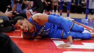 Andre Roberson Ruptures Patellar Tendon In Scary Injury Against Pistons!