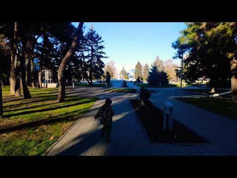 Анапа 4 января. Большая прогулка через центр Анапы, центральный пляж Анапы, пирс, речка Анапка.+9C.