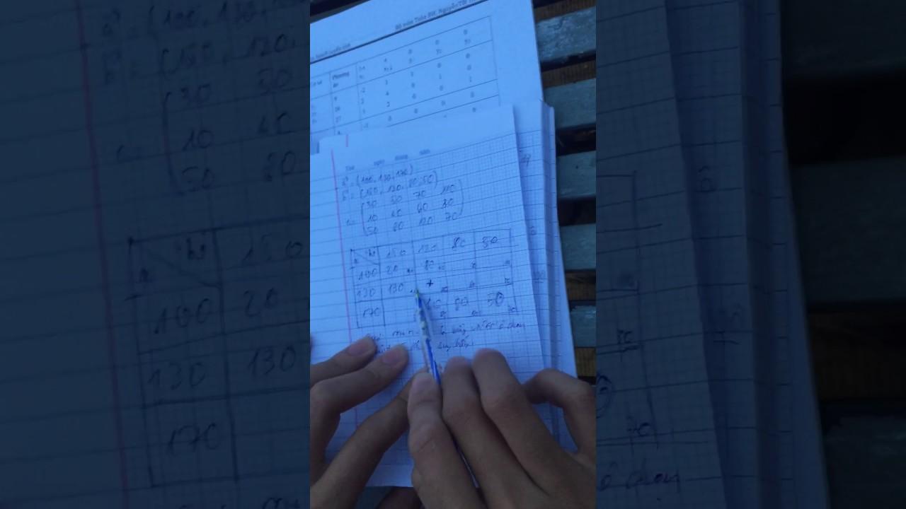 Bài toán vận tải quy hoạch tuyến tính