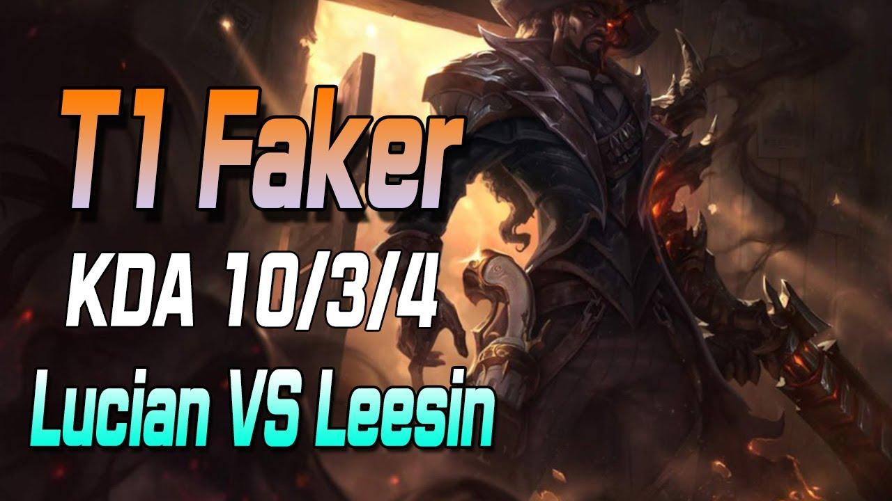 페이커 루시안 VS 리신 //T1 Faker Lucian VS Leesin S11 KR Ranked Match