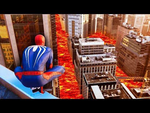 The FLOOR Is LAVA Challenge! (Spider-Man)